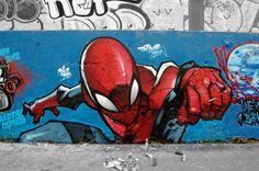 Superhero Graffiti Spider-man