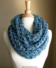 ★New Color★ BEACHCOMBER INFINITY SCARF in Ocean Blue by www.BehindMyPicketFence.com