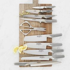 Shop Global Bread Knife and more from Sur La Table! Welding Table Diy, Metal Welding, Kitchen Tools, Kitchen Gadgets, Kitchen Products, Chefs, Metal Work Bench, Global Knives, Collector Knives