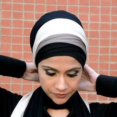 AJMAAN hijab bands are really easy to use. Just place over the head, as in the picture, and tie it at the back of your neck. Simple!! Avoid the headaches from half caps, full caps, or tight bands when you can tie our bands as tight or loose as you want! #ajmaan #ajmaanuk #hijabbands