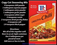 MCCORMICK ORIGINAL CHILI SEASONING