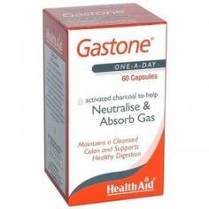 GASTONE CARBON PURO 260MG 60 CAPSULAS - HEALTH AID
