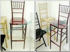 Chiavari Bar Chair (ZHC-BC01) Usage : Wedding, Church, Party, Events. Kind : Chair. Item: Chiavari Bar Chair 1. Specifications: CH1150*SH740*SW400*SD420mm 2. Net Weight: 6KG 3. Color: White, Black, Natural, Mahogany etc. 4. Cushion: Available in various colors. 5. Packing: PEP&Carton 6. Container Loading Quantity: 192 Pieces/ Container (20FT) 400 Pieces/ Container (40FT) 500 Pieces/ Container (40HQ) * High quality hard wood frame * The unique making technology of interior structure to ensur Bar Chairs, Dining Chairs, Party Events, Wedding Church, Hard Wood, Cushions, Interior, Furniture, Home Decor