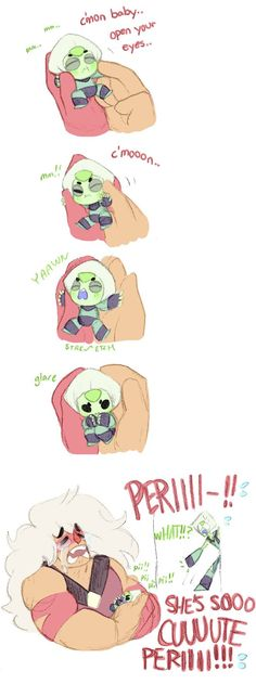 IM GONNA DO THIS WITH APACHE AS MINI PERIDOT, PERIDOT AS PERIDOT. WHO SHOULD BE JASPER?<<<<<<<STEVEN UNIVERSE COMP 9!