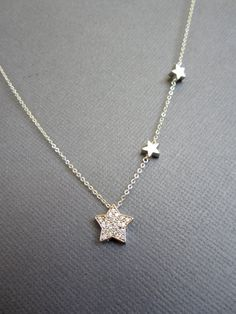 3 Star Necklace, Silver Star Necklace, Shooting Star, You're my star, mother children necklace, dainty necklace, Gift For mom, grandmother