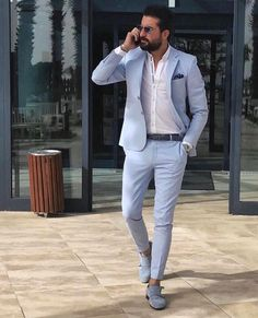 18 Business Casual Outfit Ideas for Working Men - remajacantik Informations About 18 Business Casual Outfit Ideas for Working Mens Casual Suits, Stylish Mens Outfits, Business Casual Outfits, Stylish Clothes For Men, Men Casual Styles, Men In Suits, Best Suits For Men, Stylish Man, Blazer Outfits Men
