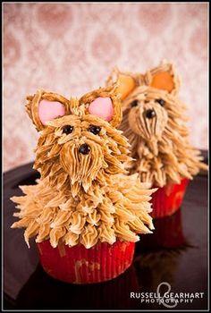 Cute Yorkie Cupcakes