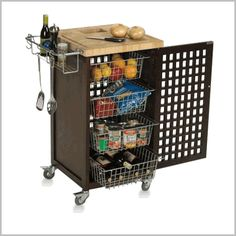 DORM Chef Chef Portable Kitchen Island Includes A Juice Groove On The Work  Surface. Thick End Grain Cutting Board Surface. Two Lattice Doors For  Circulation ...