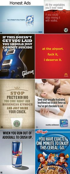 honest ads.... funny too!