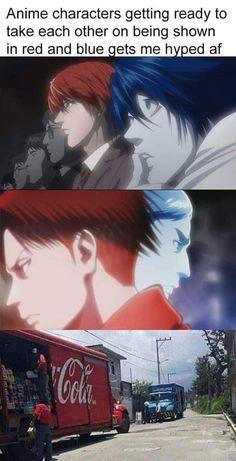 Anime Memes that are Relatable – i'm going to jail anime meme Death Note デスノート, Death Note Fanart, Death Note Funny, Anime Meme, Anime Manga, Anime Art, Otaku Anime, Attack On Titan Funny, Attack On Titan Anime