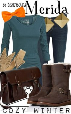 Merida by Disney Bound  Fashion Disney Outfit  Brave - I don't normally like the disney ones, but I love these boots