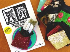 Catnip Joints Nirvana Bag Gift Set, comes with a stash bag made from Indian Sara scraps. Purrfect gift for #FathersDay, your favorite Cat Dad, Crazy Cat Lady and your Cat's Birthday. Meow!