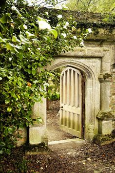 """""""Tregothnan"""" means """"The House at the Head of the Valley"""" in Cornish. The botanic garden and arboretum is the largest historic garden in Cornwall.  This is a photo of the Entrance to the Kitchen Garden"""