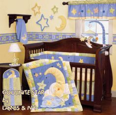 baby moon and stars nursery crib bedding sets and decorating ideas