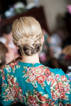 LOVE this #wedding hairstyle! A great combination of a low #bun and #braid  {Ben Elsass Photography}