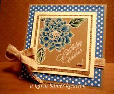 CRUMB CAKE BLUES by Karen B Barber - Cards and Paper Crafts at Splitcoaststampers