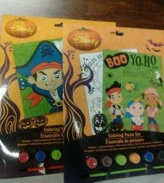 2 New Halloween Pirate Disney Coloring Paint Sets Boy Girl Art  Craft FF