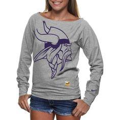 Nike Minnesota Vikings Ladies Wildcard Epic Tri-Blend Performance Sweatshirt - Ash (Size S)