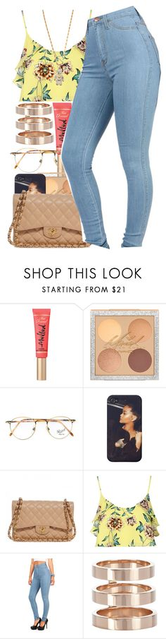 """""""Seven Days"""" by yasmeen4740 ❤ liked on Polyvore featuring Too Faced Cosmetics, Persol, Chanel, Topshop, Repossi and Vivienne Westwood"""