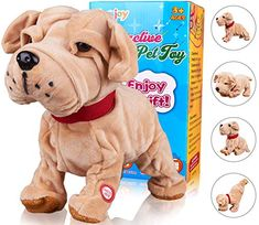 Toys For Girls Robot Dog Toy Kids Poodle Puppy Robot Cool Toy 4 5 6 Year Old GIF