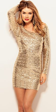 Arden B: Sequin Glam Dress