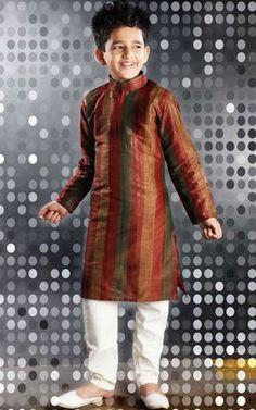 Kids brown sherwani with white pajama for weddings Sherwani For Boys, Sherwani For Men Wedding, Blue Sherwani, Mens Sherwani, Wedding Suits, Baby Boy Dress, Baby Boy Outfits, Kids Outfits, Baby Skirt