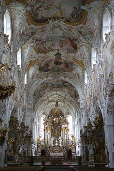 For the glory of God Mariä Geburt, Rottenbuch (by MisterPeter! Baroque Architecture, Historical Architecture, Beautiful Architecture, Beautiful Buildings, Architecture Details, Beautiful Places, Rotten, My Father's House, Church Pictures