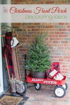 Our Christmas Front Porch ~ Welcome Home Tour