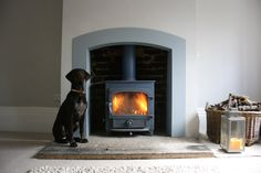 Perfect modelling by Shanti for a steel fire surround and Woodburning stove!