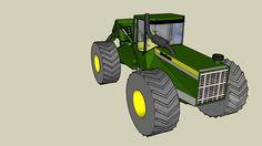Large preview of 3D Model of Skidder John Deere V2