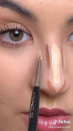 Nose Makeup, Contour Makeup, Skin Makeup, Beauty Makeup, How To Contour Nose, Makeup Contouring, How To Makeup, Eye Makeup Tutorials, Makeup Ideas
