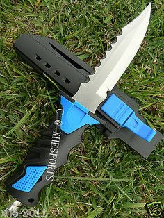 Scuba Diving Camping Hunting Fishing Stainless High Quality Dive Knife Blue DP - http://scuba.megainfohouse.com/scuba-diving-camping-hunting-fishing-stainless-high-quality-dive-knife-blue-dp/