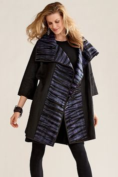 Silk & Linen Shibori Jacket by Amy Nguyen, Artful Home, $598