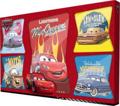 Disney Cars Set Of 5 Canvases