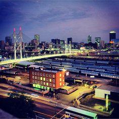 Nelson Mandela Bridge by night. #braamfontein #newtown #johannesburg #skyline #instagram #urbangenesis