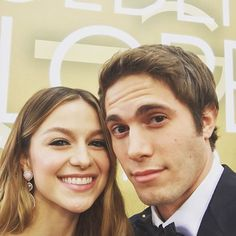 """Pin for Later: Cute Pictures of Blake Jenner and Supergirl Melissa Benoist That'll Make You Go """"Aww!"""""""