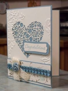 Anniversary or Wedding Card, Stampin Up Love & Laughter