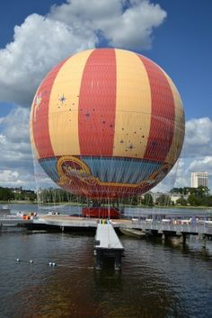New 'Characters In Flight' Balloon at Downtown Disney - no desire to do this, but it sure looks cool