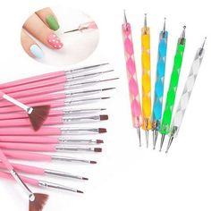 20pc Nail Art Manicure Pedicure Beauty Painting Polish Brush and Dotting Pen Tool Set for Acrylic and Gel Nails    Features:  * 100% Brand New and high quality   * Item Type: Nail Art Tool  * 5pcs Nail Art 2-Way Drawing Dotting Painting Pen  *15pcs Nail Art Gel Design Pen Painting Polish Brush Dotting Drawing Tools Set    Average length: app 12.8cm ~20.6 cm    Color: Pink    Quantity: 15PCS    Detai:3 drawing tools             7 painting tools (also can be used as gel nail curing brushes)…