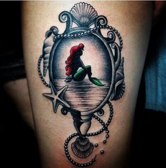 Ariel mirror piece. Would  add some color in seashells too