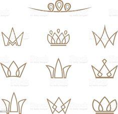 Cake Logo Design, Branding Design, San Uriel, Crown Drawing, Tattoo Lettering Fonts, Adobe Illustrator Tutorials, Beauty Logo, Free Vector Art, Sticker Design