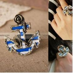 Pirate Ship Pattern Fashion Ring on BuyTrends.com, only price $4.35