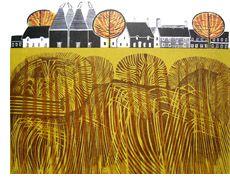 Carol Seatory: Printmaker Robert Tavener = another big art crush Linocut Prints, Art Prints, Block Prints, Textile Courses, House Quilts, Wood Engraving, Pattern Illustration, Landscape Art, Art Images