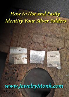 "How to Use and Easily Identify Your Silver Solders If you do much soldering, it is a good idea to have solder in different melting temperatures. I use Sheet Solder as opposed to Wire Solder, it is just easier for me to work with. Today I will get a little ""technical"" and show you how I go about using the different solders and how I keep them separated from each other. Sometimes numbers are a little confusing to follow, so bear with me. www.JewelryMonk.com"
