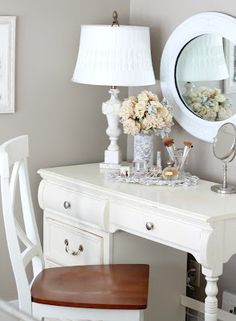 Master Bedroom Vanity this would be perfect since our master bedroom is a good size but