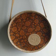 Carlos Falchi Handbags - Vintage Carlos Falchi Circle / Tambourine Bag