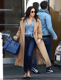 9244410dd9a Meghan Markle had lunch with a friend at the five-star hotel in the upmarket