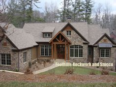 stucco and stone | Foothills Rockwork and Stucco | Stone and Rock Work Image Gallery