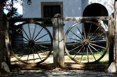 wagon wheels as gates