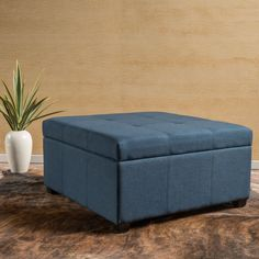 Square,Storage Ottoman Ottomans: Kick up your feet and rest them on top of one of these ottomans. Ottomans can add storage and a footrest to chairs that do not recline. Free Shipping on orders over $45!